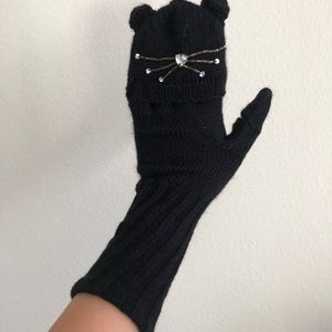 Kate Spade cat mittens gloves